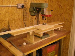 Pillar drill table